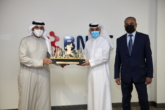 "His Excellency Minister of Transportation and Telecommunications Engineer Kamal bin Ahmed Mohammed visits ""BNET"" to review work progress"